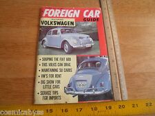 1962 Volkswagen Foreign Car Guide magazine Beetle Bus customs VW
