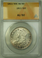1811 Small 8 O-109 Bust Half Dollar Silver Coin ANACS AU-50 (Better Coin) RJS