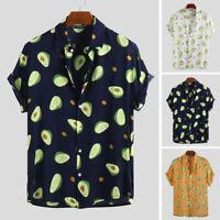 2019 NEW Mens Womens Avocado Print Shirt Short Sleeve Cool Tops Tee Blouse Tops