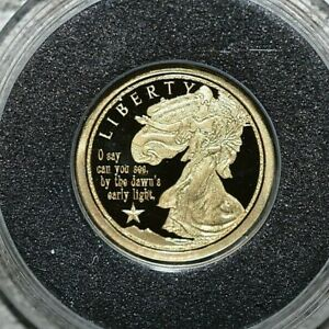 2018 Proof- Our National Anthem - 14k Mini Gold Coin - 11 mm - New Release