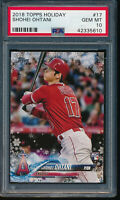 PSA 10 SHOHEI OHTANI/OTANI 2018 TOPPS HOLIDAY #17 ANGELS ROOKIE CARD RC GEM MINT