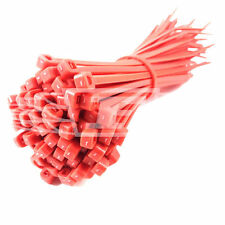 100 x RED CABLE TIES ZIP TIE WRAP PLASTIC NYLON 100mm 140mm 200mm 300mm