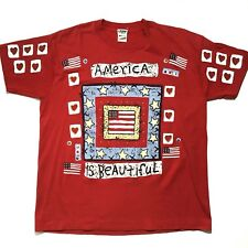 Vtg America Is Beautiful Xl Shirt Usa United States american 90s streetwear rare