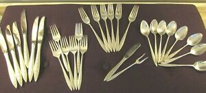 WALLACE Sterling Silver SPANISH LACE 4 Pc Service 6 ++ 28 Piece Total 28.8 Toz