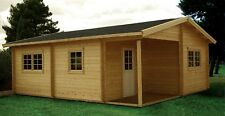 20ft x 24ft Log cabin guest house Technical Floorplan starter package
