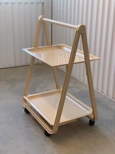 Vintage 1980s Cart Serving New In Box Kartell Panton Era Design