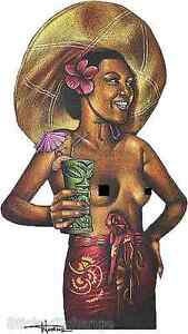 Tiki Mug Woman Sticker Decal Artist Doug Horne H25