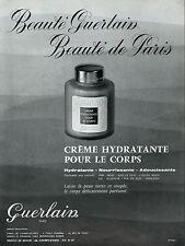 ▬► PUBLICITE ADVERTISING AD Crème hydratante pour le corps GUERLAIN 1960