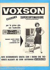 QUATTROR962-PUBBLICITA'/ADVERTISING-1962- VOXSON - REGALA SUPERCORTEMAGGIORE