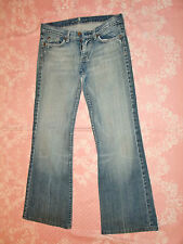 """Women's""""7 For All Mankind""""Logos Low  Rise Flare Jeans size W27/L30 Super Cute!"""