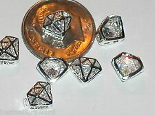 1pc miniature dollhouse tiny Diamond shaped Crystal ring findings flatback 8mm *