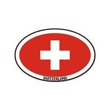 "Switzerland Euro oval car window bumper sticker decal 5"" x 3"""