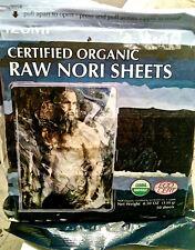 Raw Organic Nori 50 sheets! Bulk seaweed VEGAN sushi wrap paper rolls-KOSHER