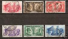 ITALY # 413-18 Used ROME-BERLIN AXIS HITLER MUSSOLINI