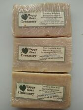 3 BARS GOAT MILK SOAP PEPPERMINT SPEARMINT EUCALYPTUS HAPPY GOAT CREAMERY CHEAP