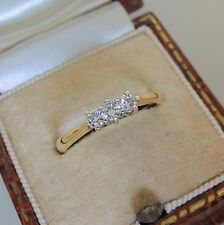 18ct Gold Three Stone Diamond Trilogy Ring