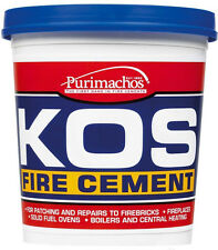1KG Everbuild KOS Stove Cement - Black Brick Fire Furnace Ready Mixed Material