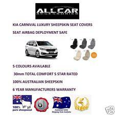 Sheepskin Car Seatcovers for Kia Carnival , Seat Airbag Safe, 5 Colours.30mm TC