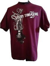 VTG 2005 Every Time I Die Men's T Shirt M Guitar Snakes Licensed Cover Art