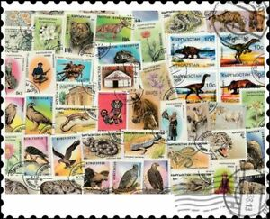 Kyrgyzstan : 25 Different Stamps Mixture