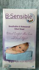 New B-Sensible Breathable & Waterproof Blue Crib Sheet Dermofresh