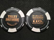 "Harley Davidson Poker Chip (110 ANNIVERSARY) ""Tilley"" Salisbury, North Carolina"