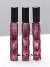 3 PCS Victoria's Secret BOMBSHELL PINK DIAMONDS PARFUM ROLLERBALL 7 mL X 3