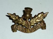 vintage originale WW1 SCOZZESE PROTEZIONI Militare Collare DISTINTIVO