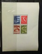 Suriname 1953 Wildlife mini-sheet mnh, cv (Stanley Gibbons) £120