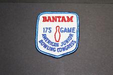 VINTAGE Bantam 175 Game American Junior Bowling Congress Patch