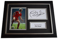 Phil Neal Signed A4 FRAMED photo Autograph display Liverpool Football AFTAL COA