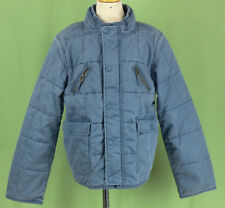 208 Stella McCartney GAP kids boy blue jeans jacket insulated quilted EUC L 10