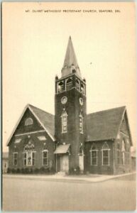 SEAFORD, Delaware Postcard MT. OLIVET PROTESTANT CHURCH Street View - Mayrose