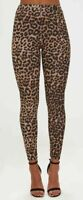 New Womens Leopard Animal Print Ladies Stretch Full Length Leggings Pants 8-22