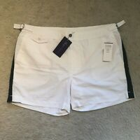 Ralph Lauren Purple Label Mayfair Fitted Swim Shorts White RRP: €249.00