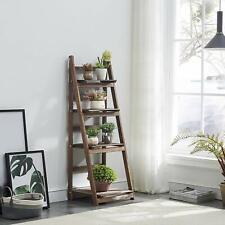 4 Tier Ladder Shelf Display Unit Home Bookcase Stand Plant Flower Book Shelves