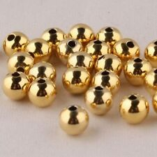 Hot Sale Solid 14k Yellow Gold DIY Bead 3mmW Luck Smooth Loose Bead 1pcs