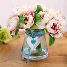 1 Bouquet Artificial Craft Vintage Peony Flower Wedding Party Home Xmas Decor