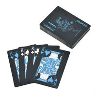 Creative Black Plastic PVC Poker Waterproof Magic Playing Cards Table  Game Sets