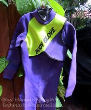 Body Glove Womens Full Wetsuit Sz M-7 SCUBA Snorkeling Purple Neon Yellow