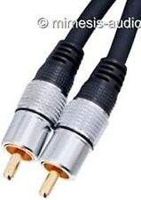 HQSS DIGITAL COAXIAL CABLE GOLD PLATED 5 METER NEW HIGH END AUDIO