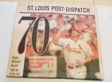 St Louis Post Dispatch Newspaper Sept 1998 Mark McGwire 70 Home Run Record Break