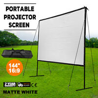"""Premium 144"""" 16:9 Outdoor Portable Projection Screen Home Theater Backyard 3D HD"""