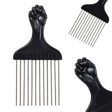 Afro Metal Comb Pik Black Fist Metal African Hair Pik