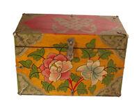 Cofanetto Scatola Tibetano Lotus Gioiello Tibet Buddista Nepal 30x21cm - 5944