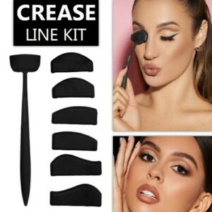 6-in-1 Stamp Cut Crease Line Kit Eyeshadow Applicator Fixer Stencil Tool
