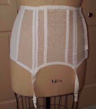 Vintage Francine of France Sheer Mesh Boned Open Bottom Garter Girdle