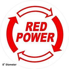 """IH Red Power sticker decal sticker 8"""" round Case IH Ag International Harvester"""