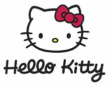 "Hello Kitty Iron On Transfer 4.75"" x 6.5"" for LIGHT Fabric"