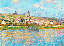 Vetheuil I A1+ by Claude Monet High Quality Canvas Print